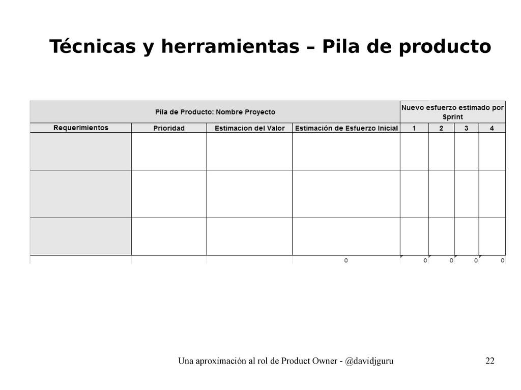 Una aproximación al rol de Product Owner - @dav...