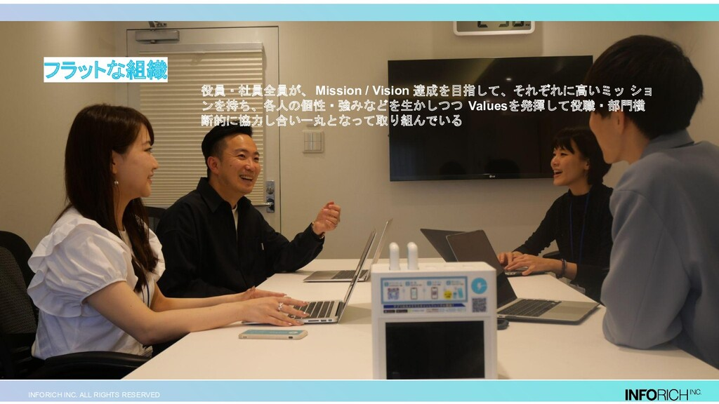 INFORICH INC. ALL RIGHTS RESERVED 役員・社員全員が、 Mis...