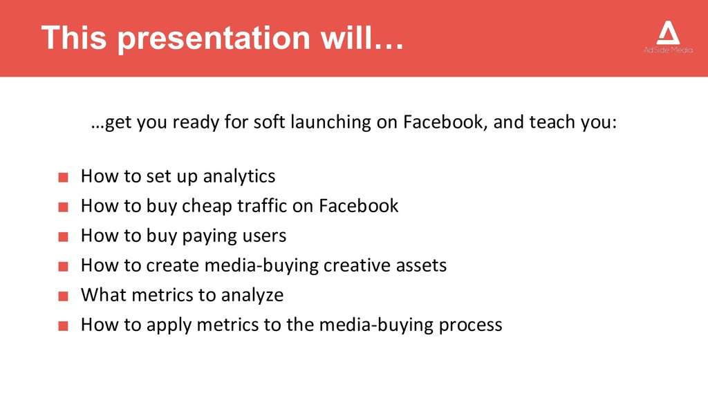 This presentation will… …get you ready for soft...