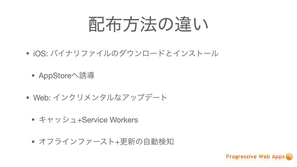 ํ๏ͷҧ͍ • iOS: όΠφϦϑΝΠϧͷμϯϩʔυͱΠϯετʔϧ  • AppSto...