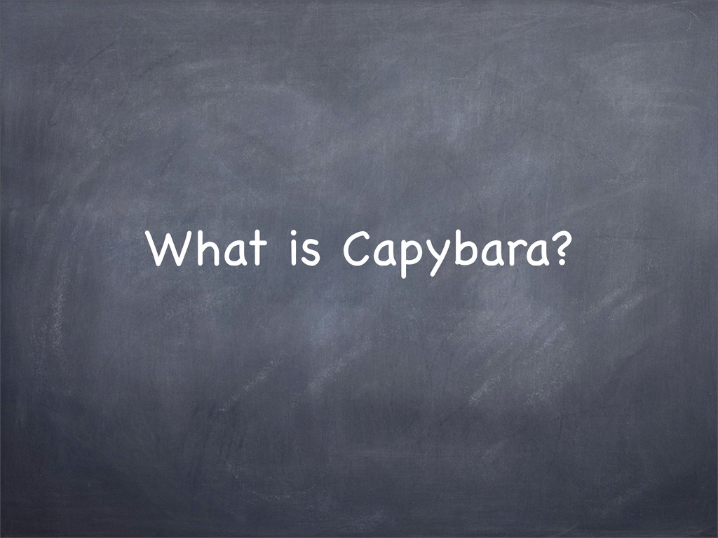 What is Capybara?