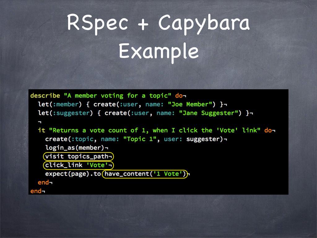 RSpec + Capybara Example