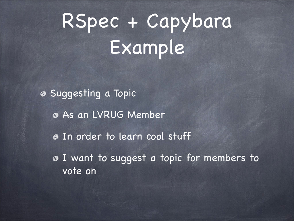 RSpec + Capybara Example Suggesting a Topic As ...