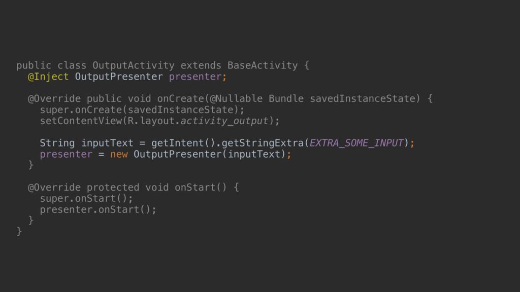 public class OutputActivity extends BaseActivit...