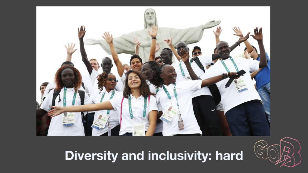 Diversity and inclusivity: hard