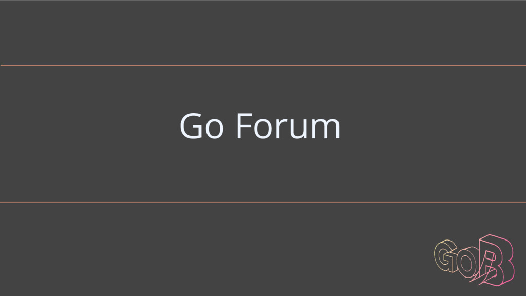 Go Forum