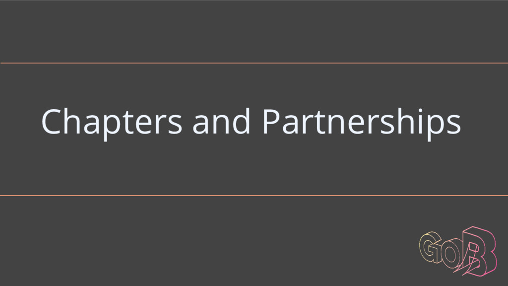 Chapters and Partnerships