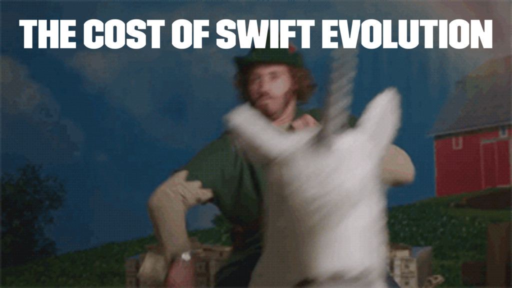 The cost of Swift Evolution