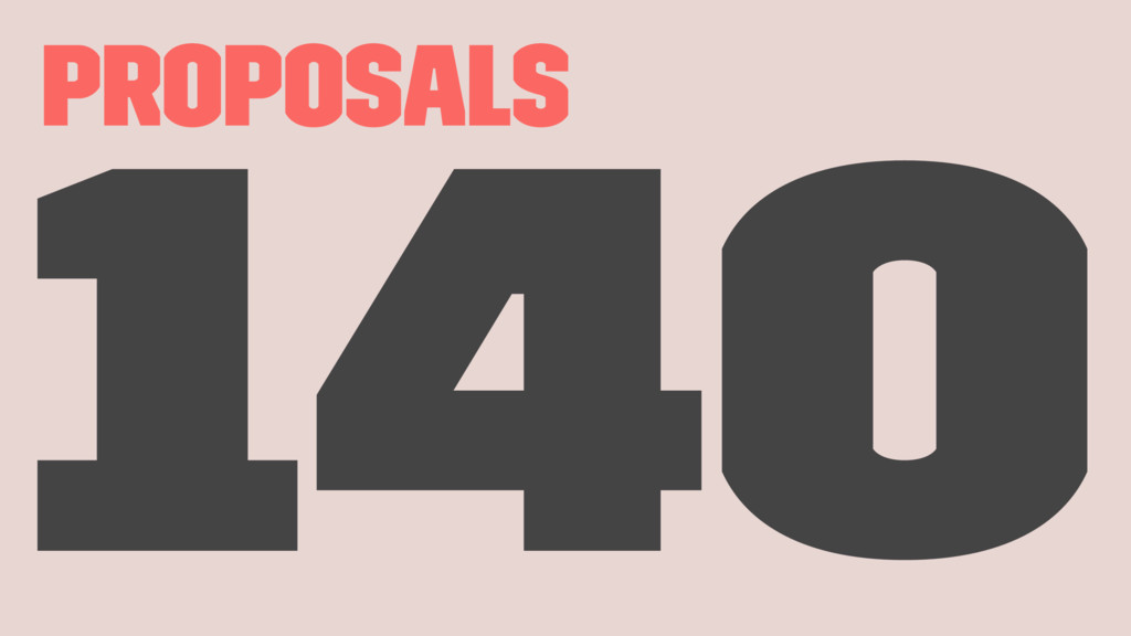 Proposals 140