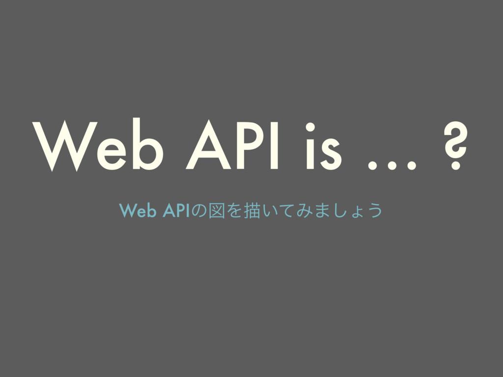 Web API is … ? Web APIͷਤΛඳ͍ͯΈ·͠ΐ͏