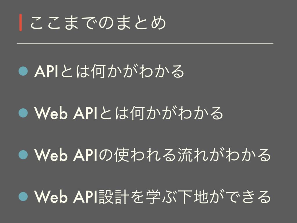 APIͱԿ͔͕Θ͔Δ Web APIͱԿ͔͕Θ͔Δ Web APIͷΘΕΔྲྀΕ͕Θ͔Δ ...