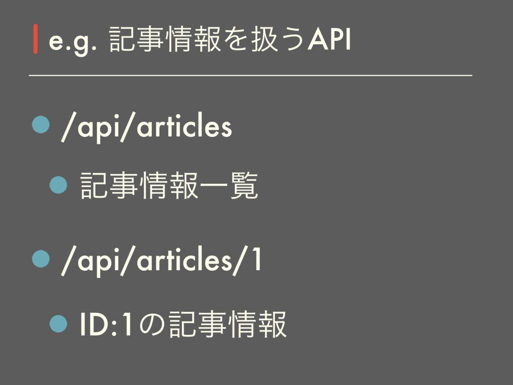 /api/articles هใҰཡ /api/articles/1 ID:1ͷهใ ...
