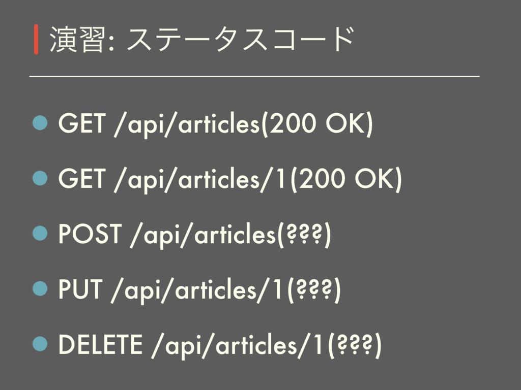 GET /api/articles(200 OK) GET /api/articles/1(2...
