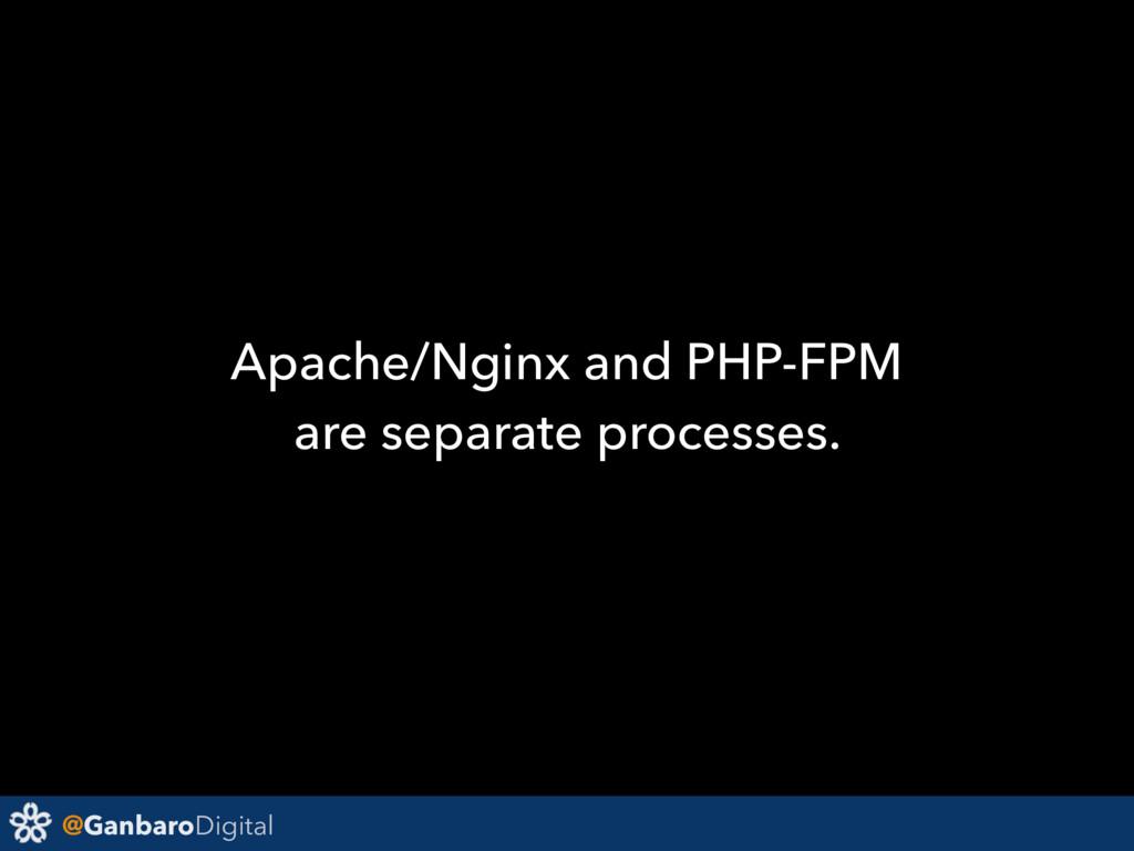 @GanbaroDigital Apache/Nginx and PHP-FPM are se...