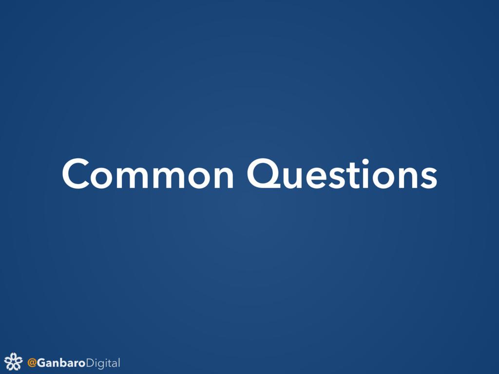 @GanbaroDigital Common Questions