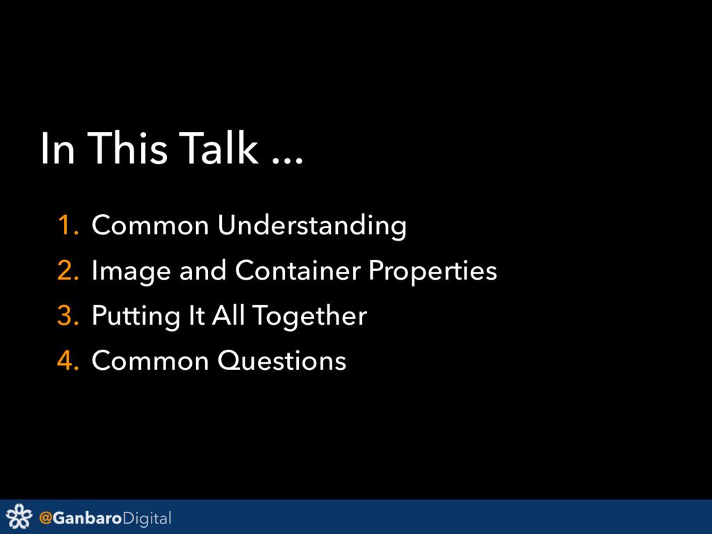 @GanbaroDigital In This Talk ... 1. Common Unde...