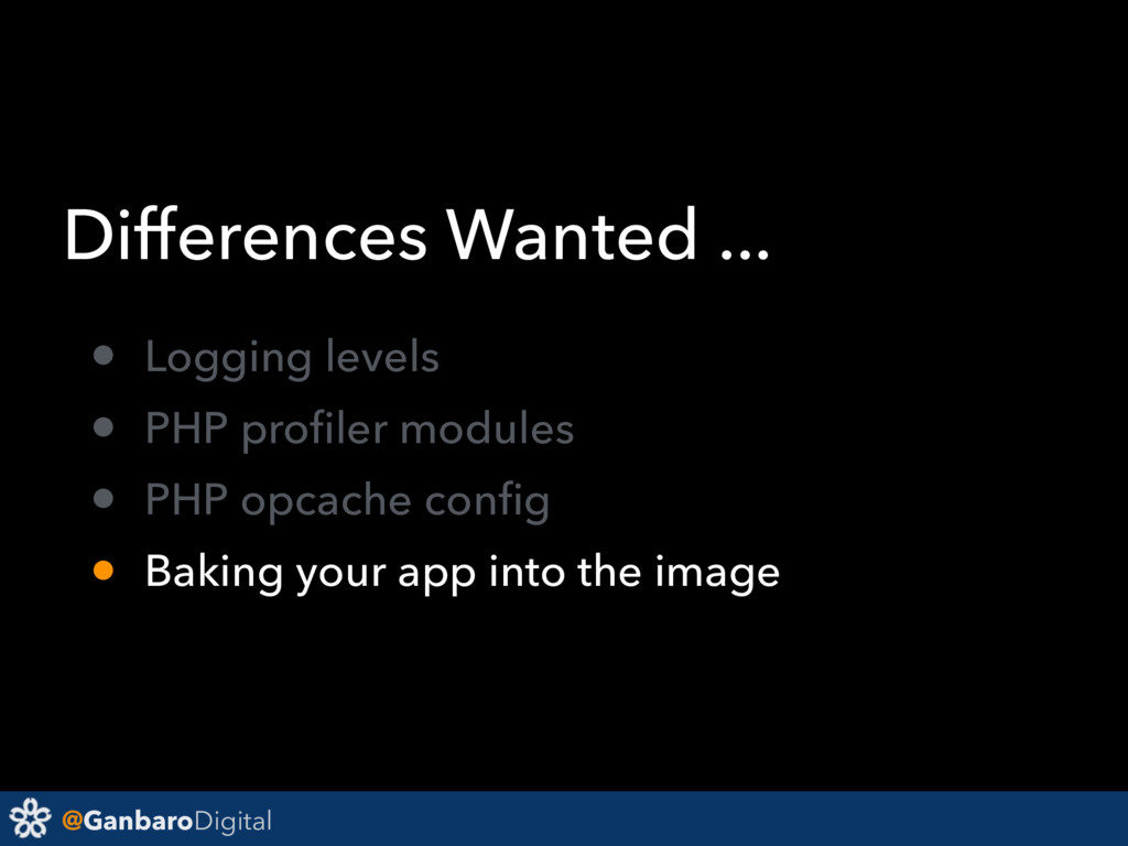 @GanbaroDigital Differences Wanted ... • Loggin...