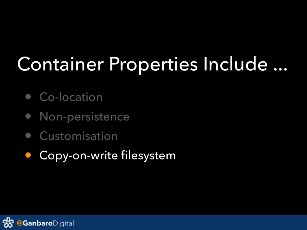 @GanbaroDigital Container Properties Include .....