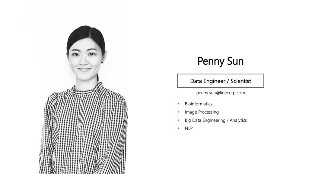 Profile Image Penny Sun Data Engineer / Scienti...