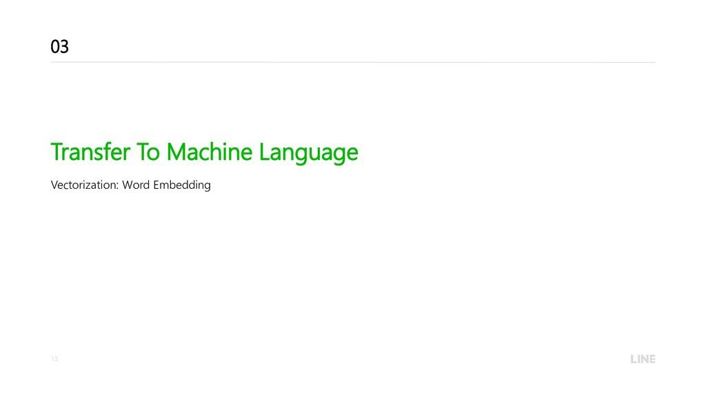 13 Transfer To Machine Language Vectorization: ...