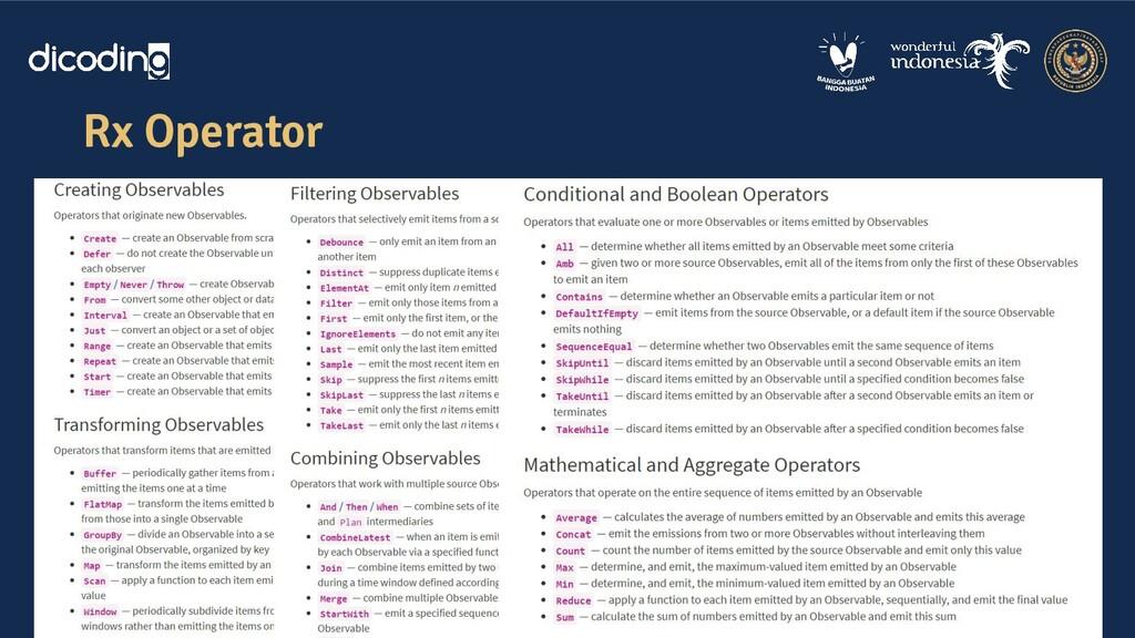 Rx Operator