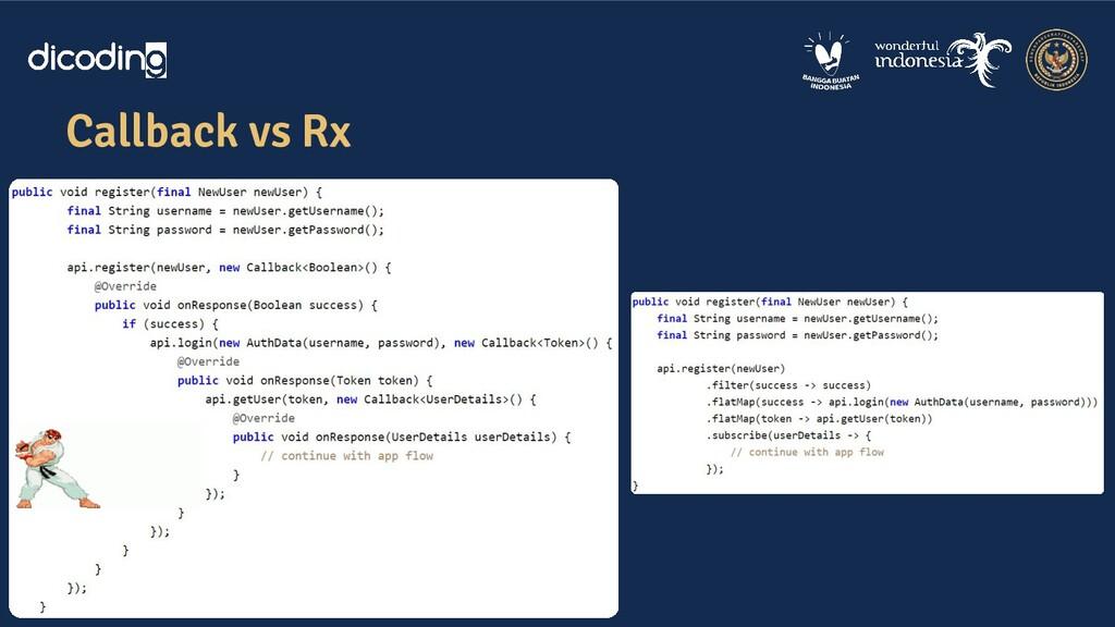 Callback vs Rx