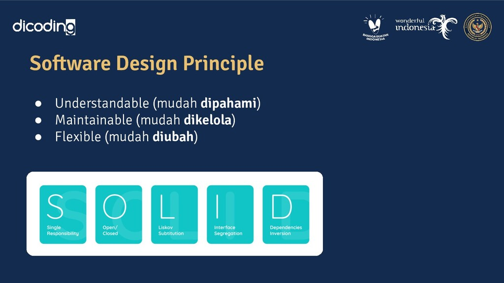 Software Design Principle ● Understandable (mud...