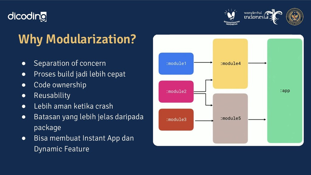 Why Modularization? ● Separation of concern ● P...