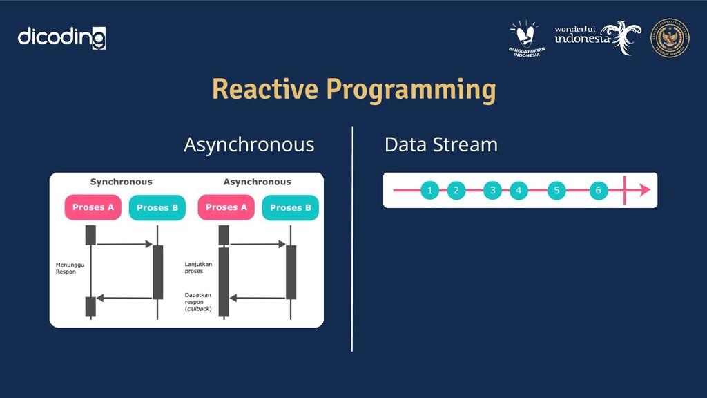 Reactive Programming Asynchronous Data Stream