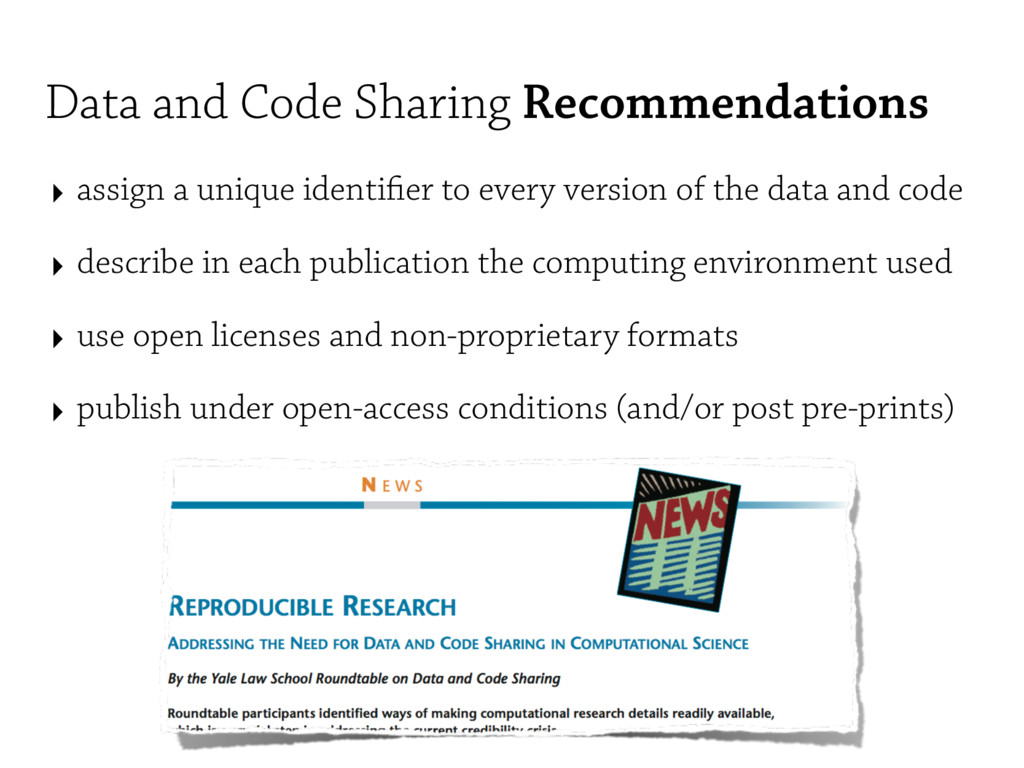 Data and Code Sharing Recommendations ‣ assign ...