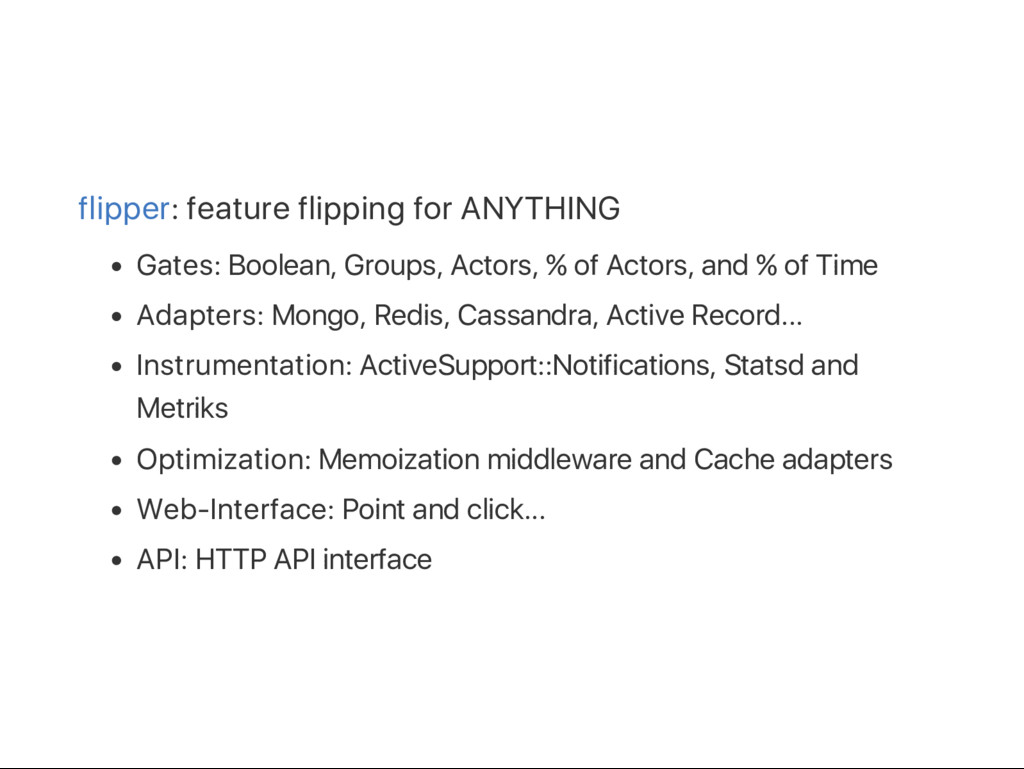 flipper: feature flipping for ANYTHING Gates: B...