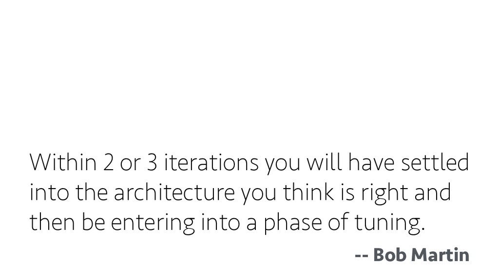 Within 2 or 3 iterations you will have settled ...