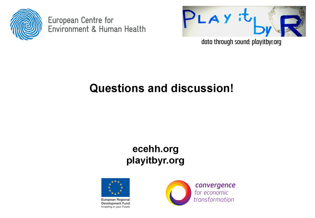 Questions and discussion! ecehh.org playitbyr.o...