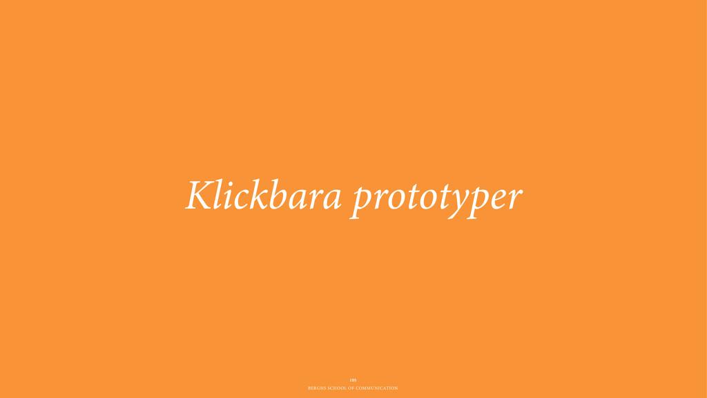 BERGHS SCHOOL OF COMMUNICATION Klickbara protot...