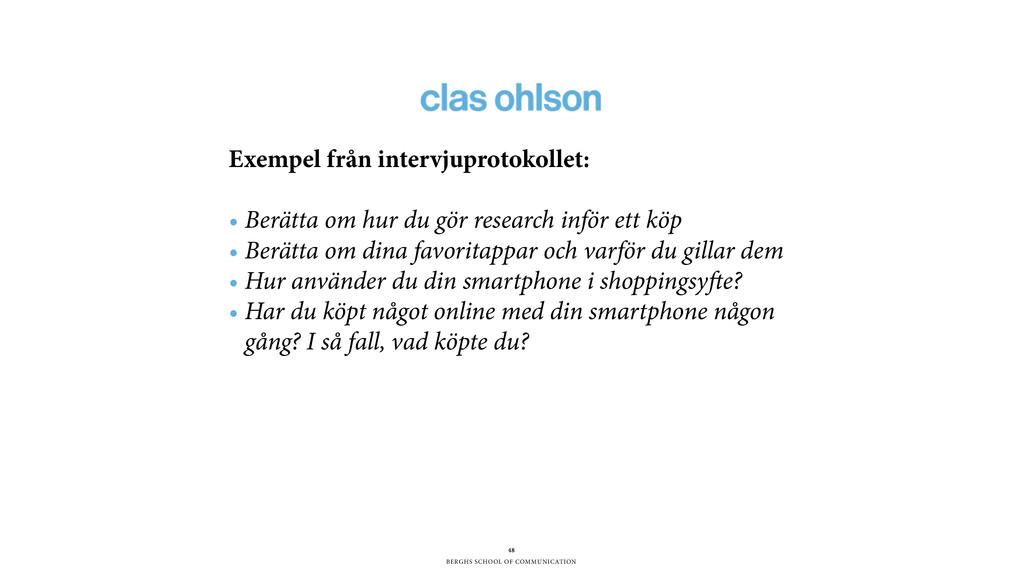 BERGHS SCHOOL OF COMMUNICATION 48 Exempel från ...