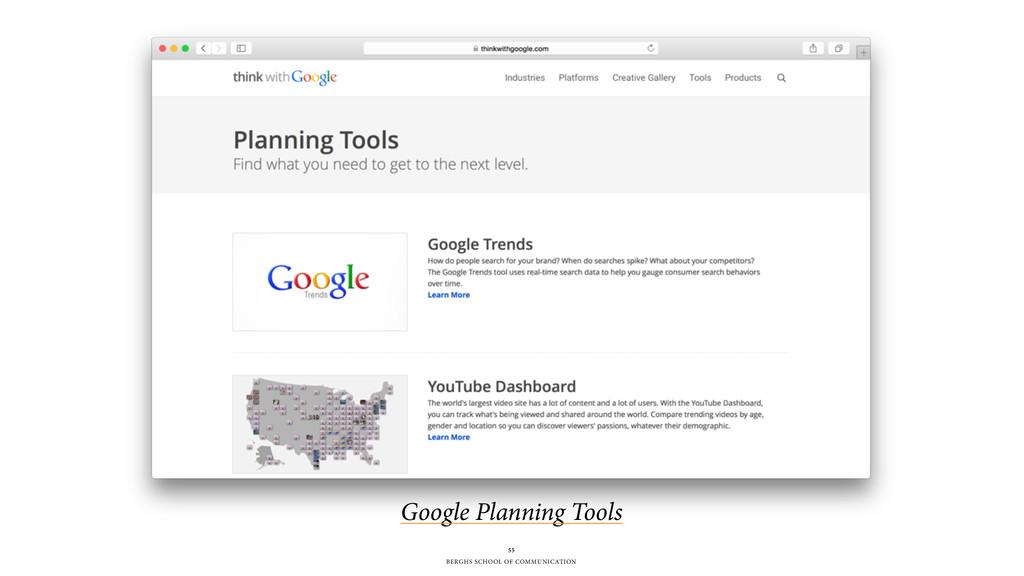 BERGHS SCHOOL OF COMMUNICATION 55 Google Planni...