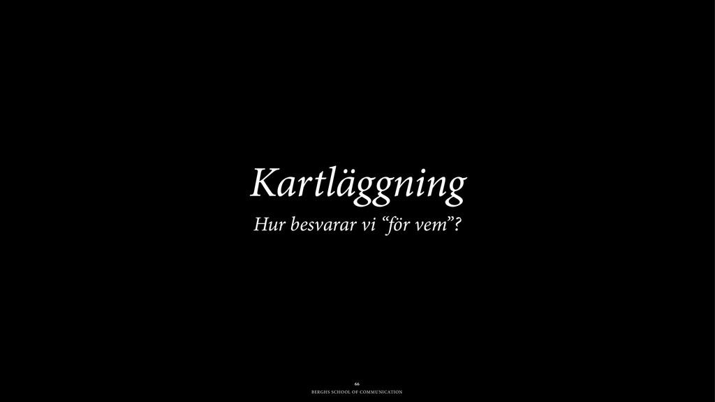 BERGHS SCHOOL OF COMMUNICATION Kartläggning Hu...