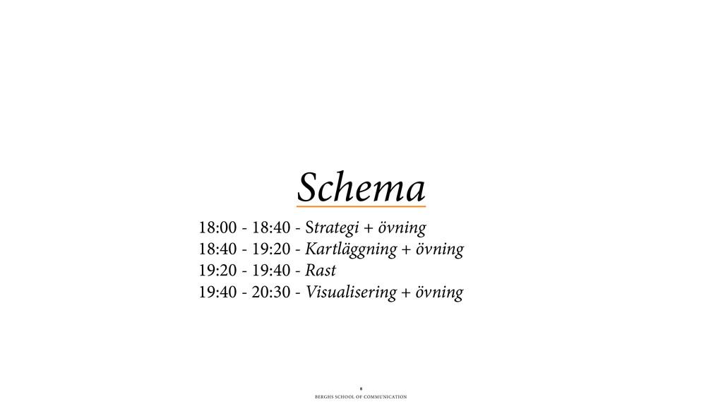 BERGHS SCHOOL OF COMMUNICATION Schema 8 18:00 -...