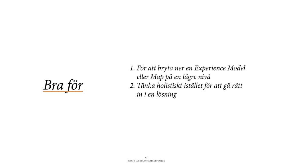 BERGHS SCHOOL OF COMMUNICATION Bra för 83 1. Fö...