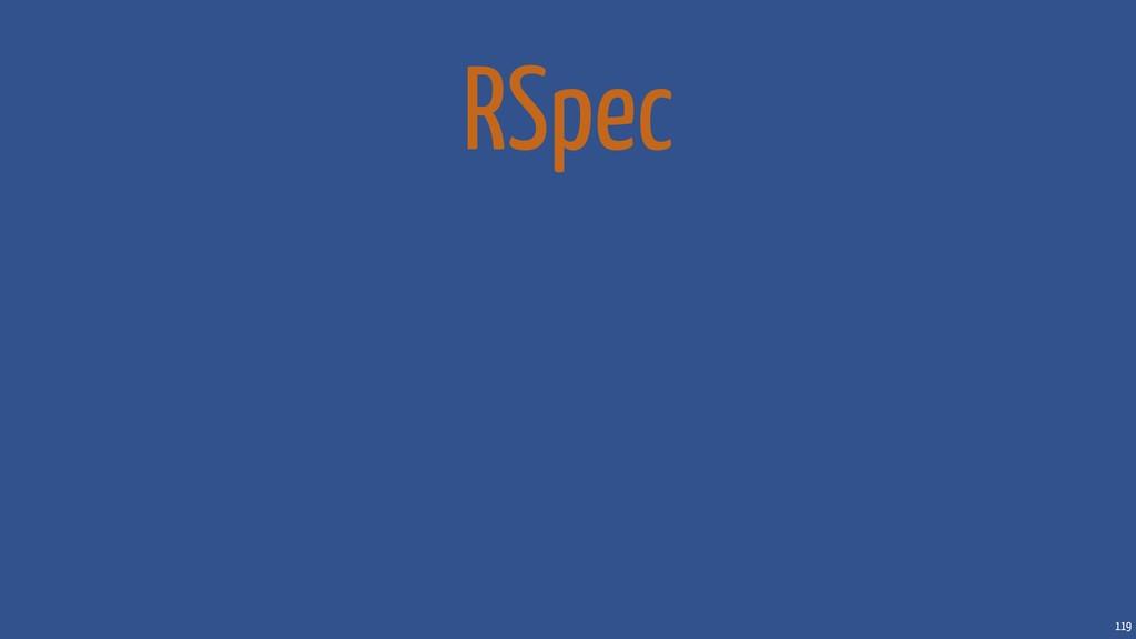 119 RSpec