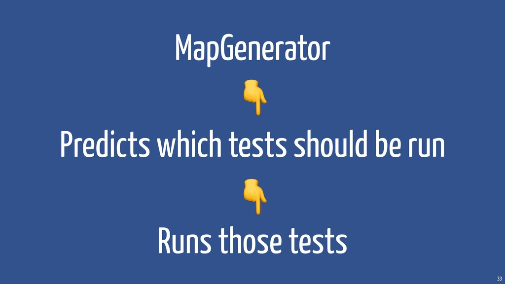 33 MapGenerator Predicts which tests should be ...