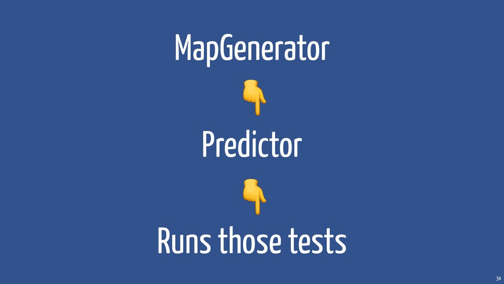 34 MapGenerator Predictor Runs those tests