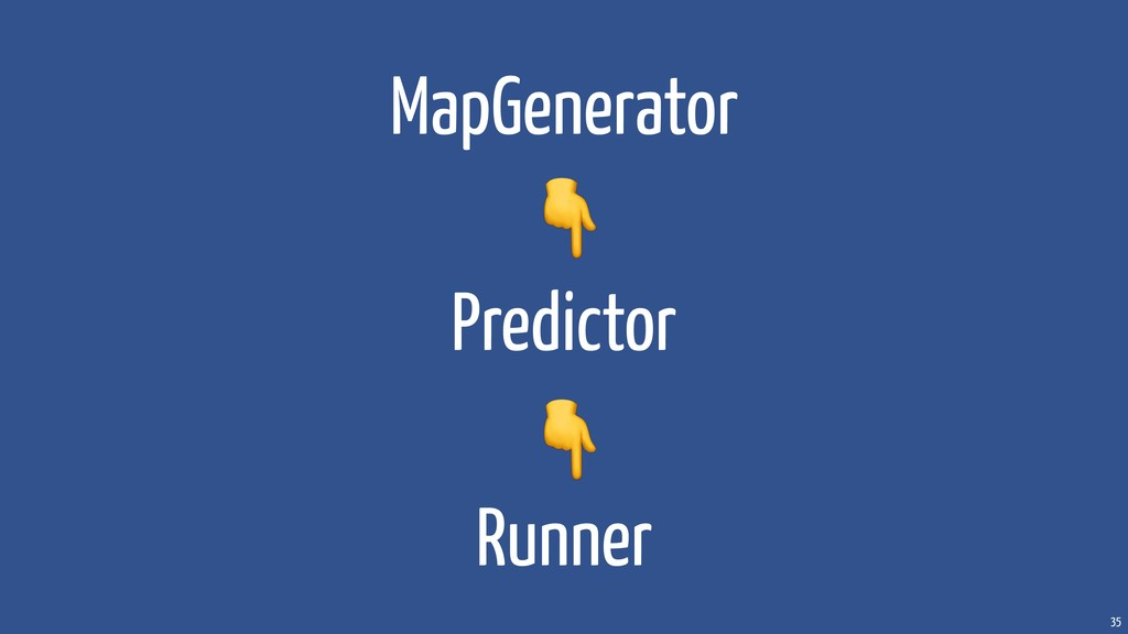 35 MapGenerator Predictor Runner