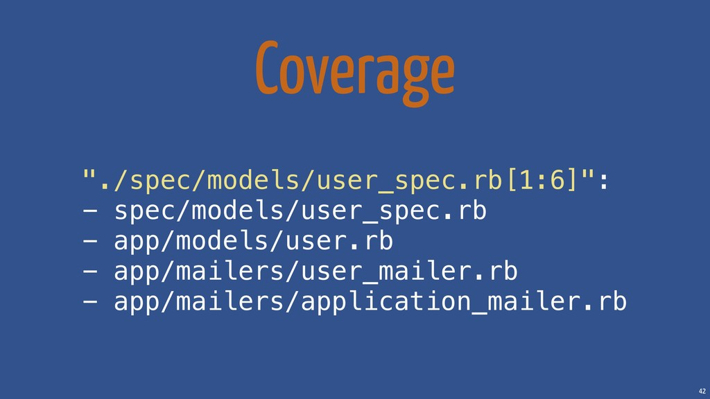 "42 Coverage ""./spec/models/user_spec.rb[1:6]"": ..."