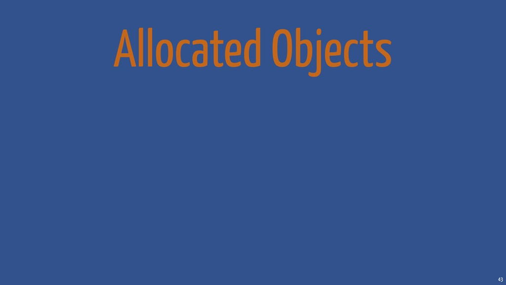 43 Allocated Objects