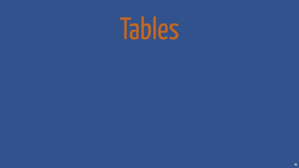 86 Tables