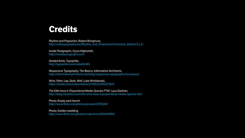 Credits ! Rhythm and Proportion, Robert Bringh...