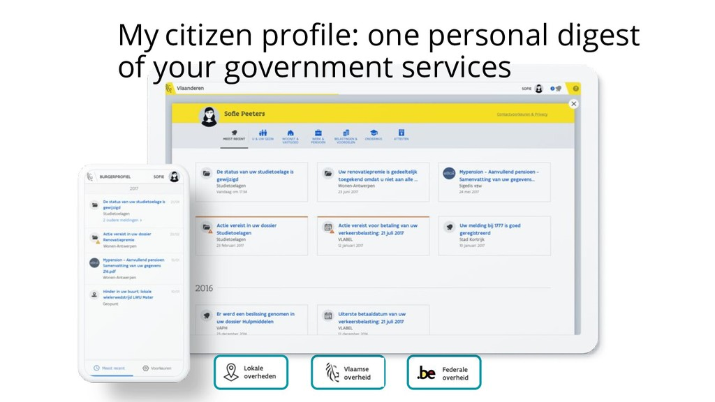 My citizen profile: one personal digest of your ...