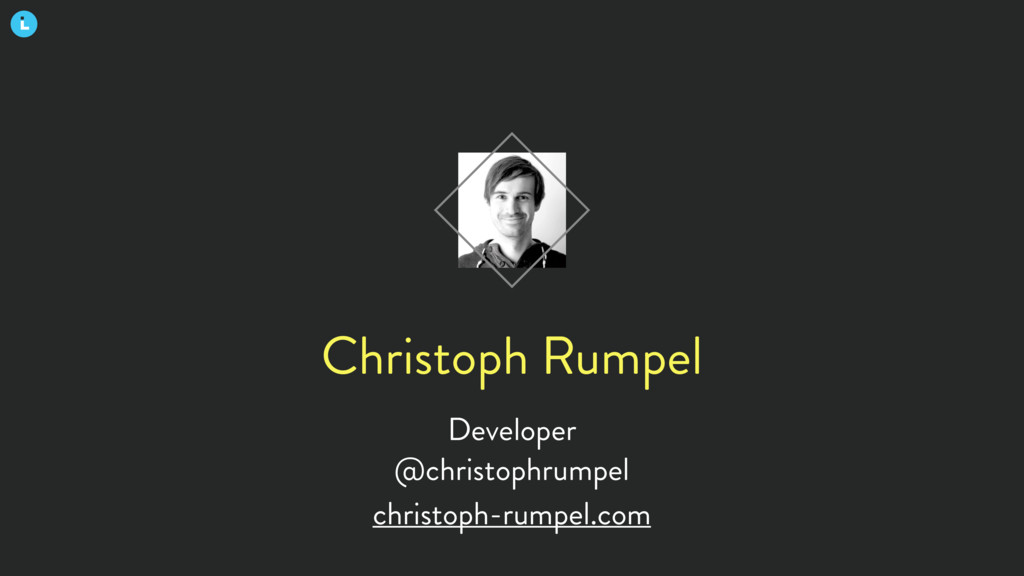 Christoph Rumpel Developer @christophrumpel chr...