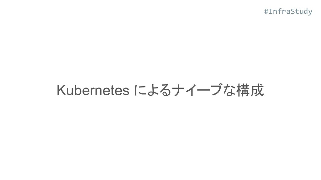 #InfraStudy Kubernetes によるナイーブな構成